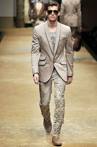 D&G SS 10 - Printed jeans rule!