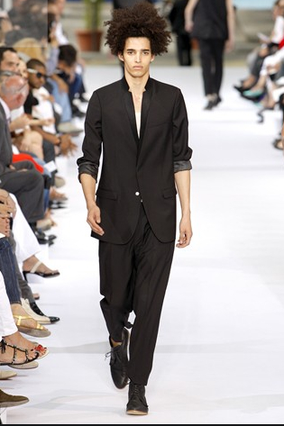 Dior Homme SS 10 - Rolled up sleeves for casual elegance