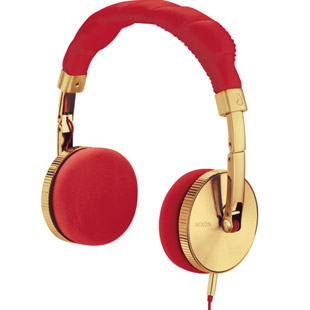 Nixon-Headphones-Nixon-Nomadic-Gold-Red