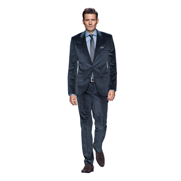 Velvert, Superwool 120+ are your best bets for a suit. Avoid full polyester.