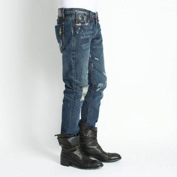 Experiment with your boots, and shoes. Jeans with details add that accessory you can't be bothered wearing.