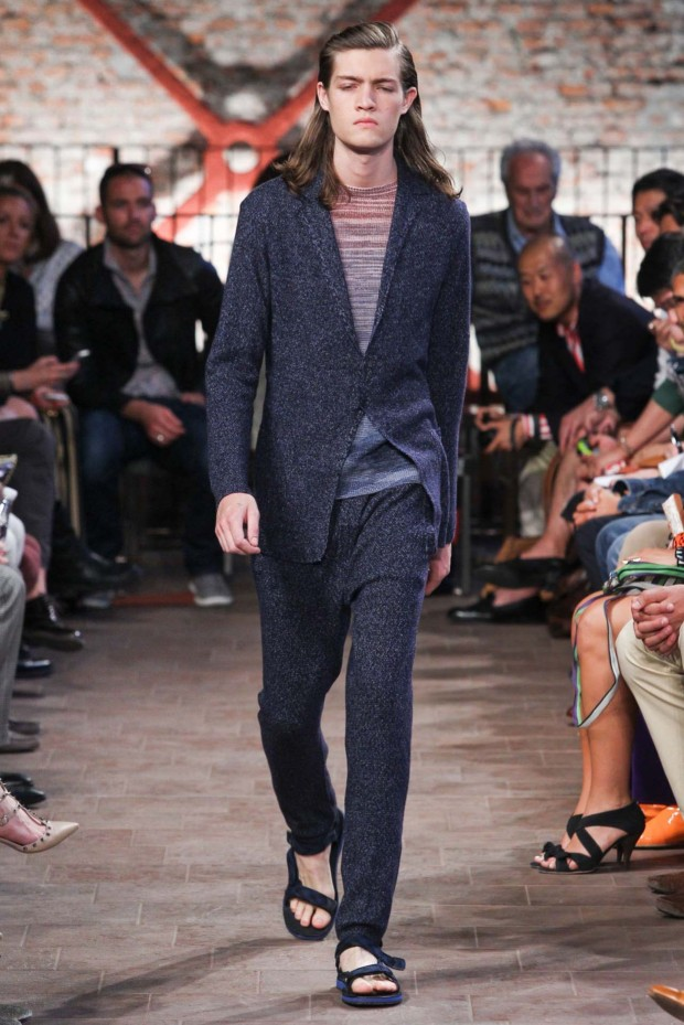 A more relaxed shade and style of blue from Missoni