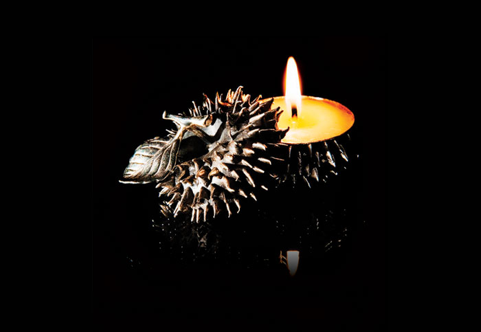 Spiked Apple candle
