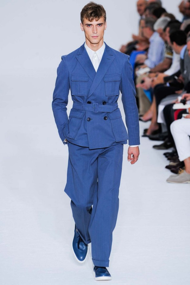 Z Zegna rocks the blue safari suit