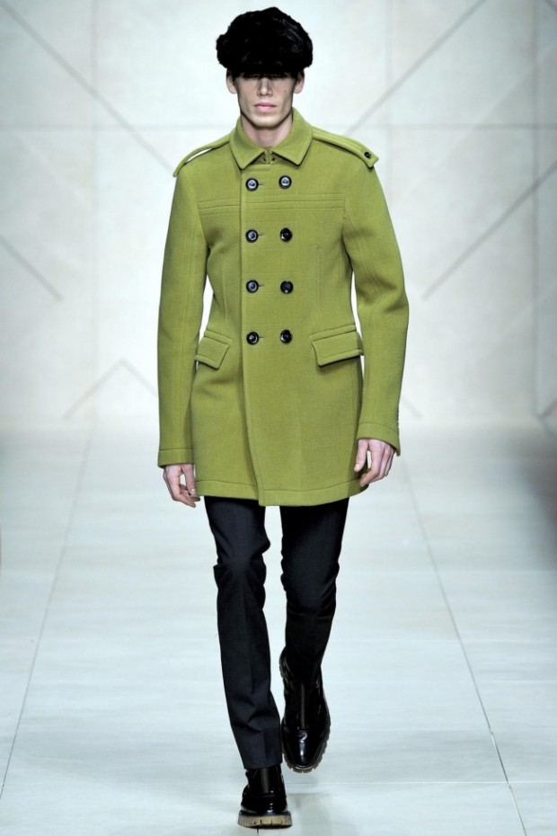 The green pea coat - apt no? By Burberry Prorsum