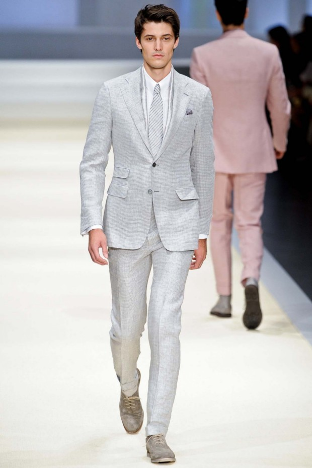 Classic grey suiting by Canali
