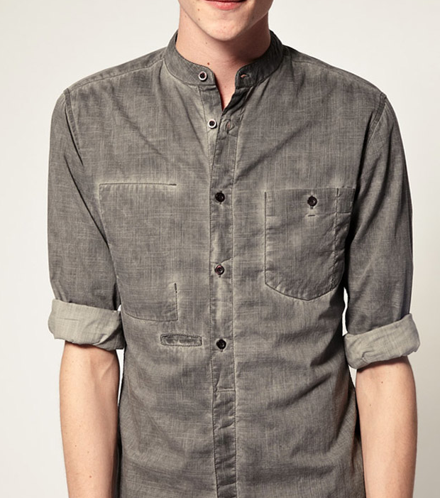 ASOS oil wash Grandad Shirt $30