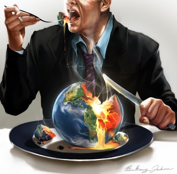 Greedy world