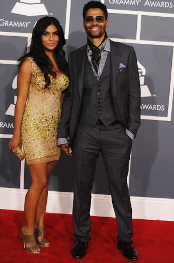Eric Benet rockin' a three piece.