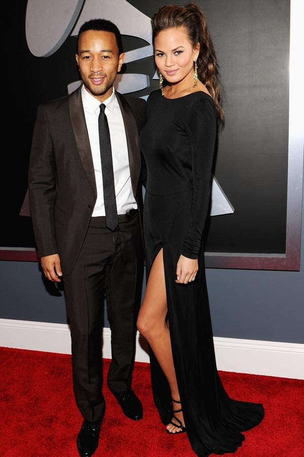John Legend and Chrissy Teigen at the Grammy's Feb 2012.