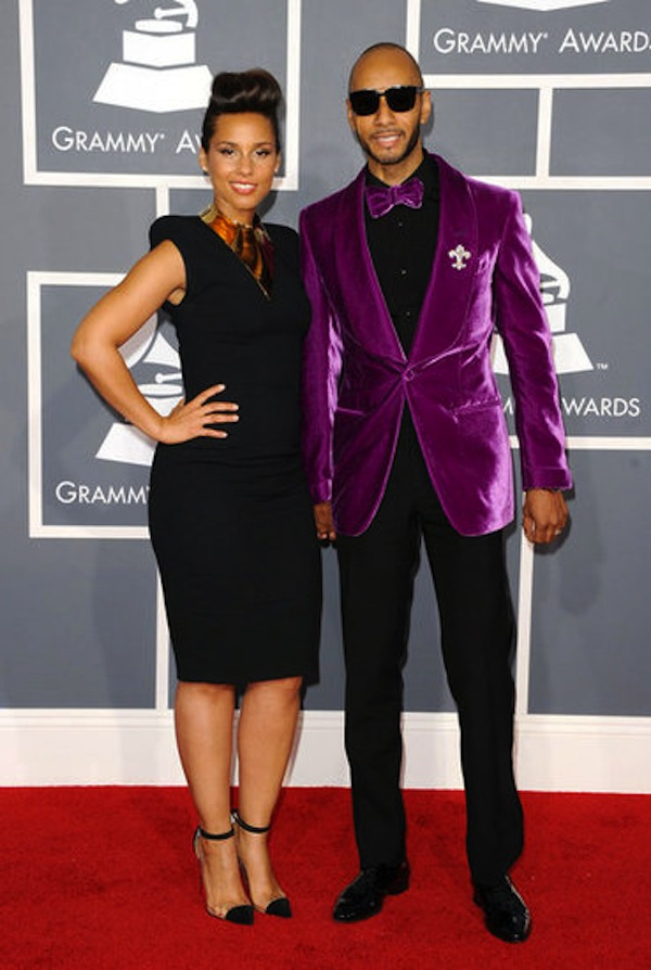 Yeha, Swizz Beatz with his lady friend.