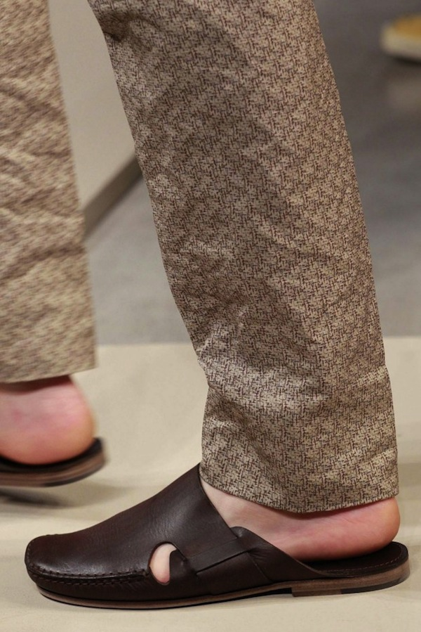 Bottega Veneta shows off a mutated tribute to the Jesus sandal.