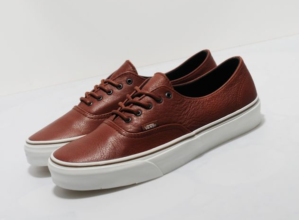 Van's California Authentic Deconstructed Brown Leather shoes