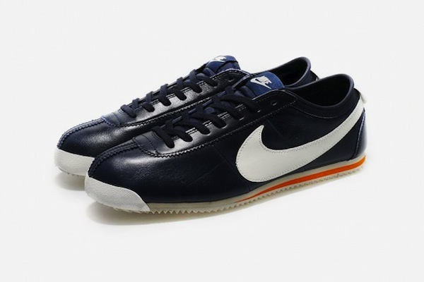 Classic Navy Leather Cortez Nikes