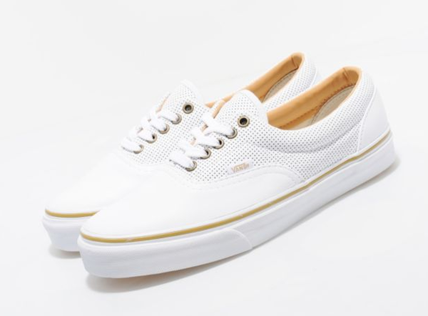Van's California Era white leather shoes