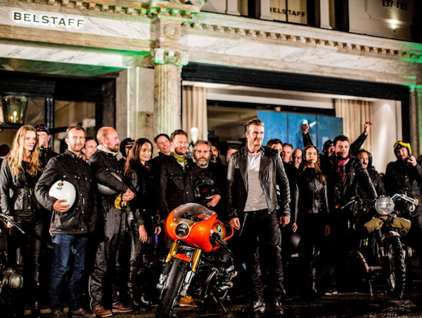 David Beckham at Belstaff, London