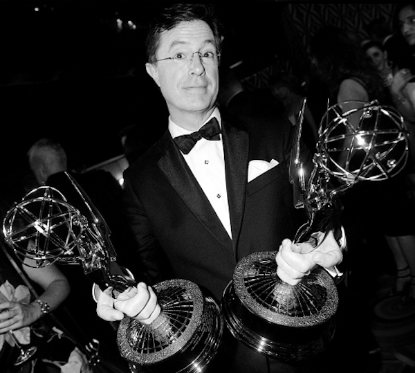 Stephen Colbert cleans up at the Emmys.