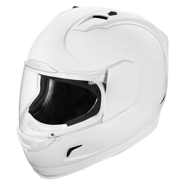 Icon alliance white helmet