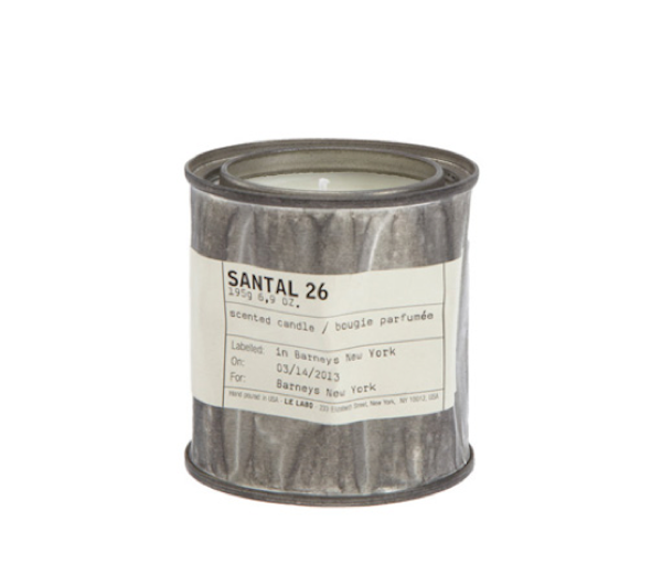 Le Labo candles, Santal26 scent $60