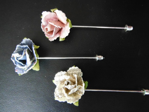 Unique lapel flowers on etsy.com