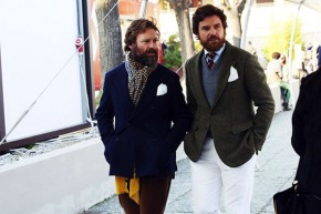 Winter showed off deep blues and greens for Pitti Uomo