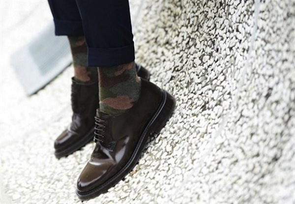 Simple. Camo socks.