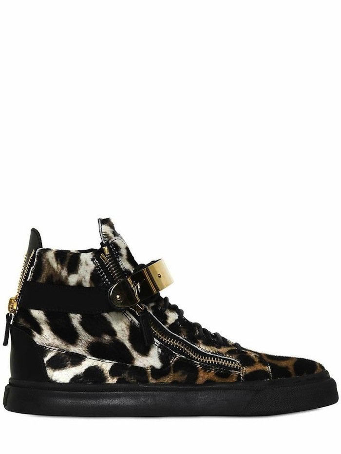 leopard pony sneakers