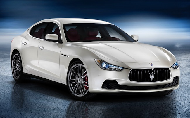 2014-Maserati-Ghibli-sedan-front-three-quarters-view