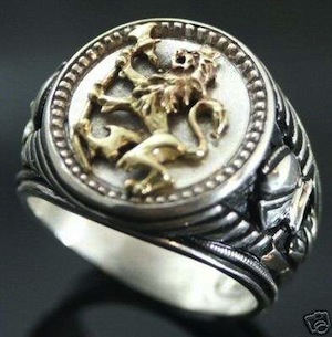 norse-lion-signet-ring-massive-heavy-sterling-silver-8950