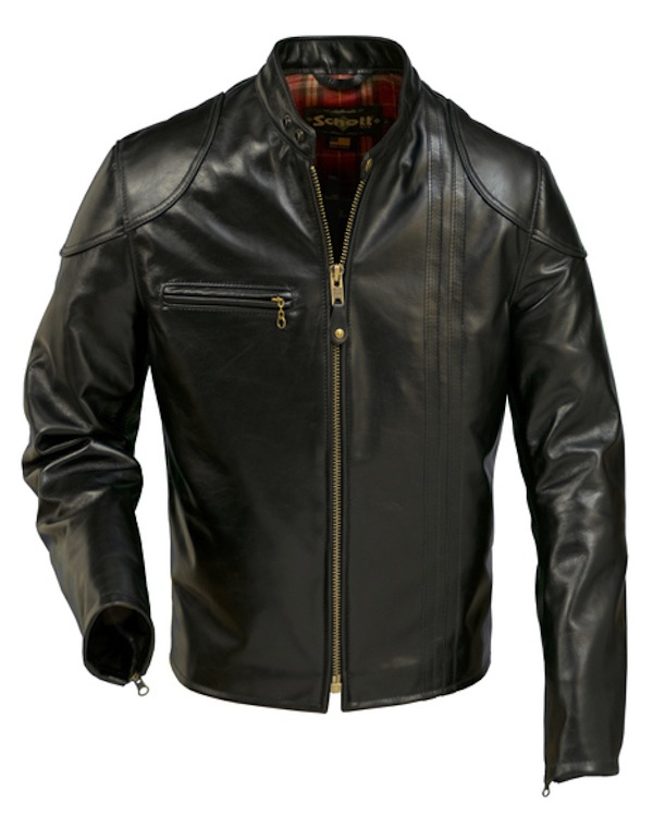schott-mens retro cafe racer jacket