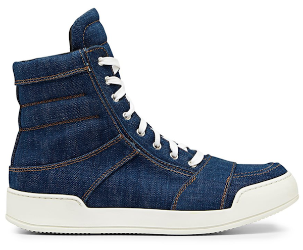 Balmain classic denim high tops: reference SneakerBoy