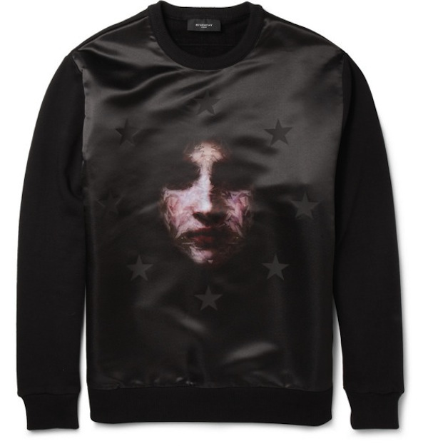 Givenchy madonna printed satin and jersey sweatshirt