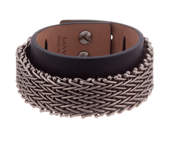 Lanvin Leather chainmail bracelet
