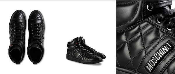 Moschino-Mens-black shoes
