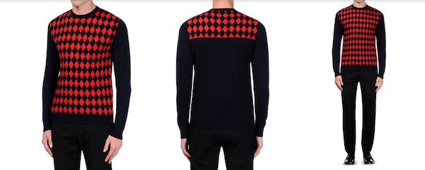 Moschino-Mens-red jumper