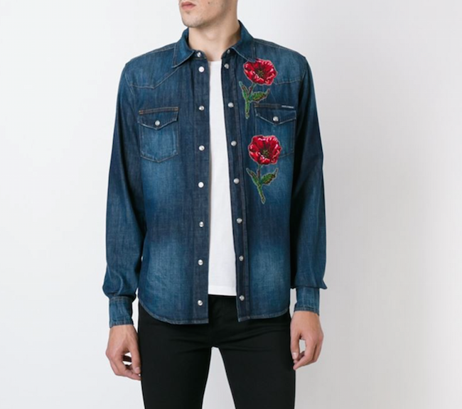 D and G rose denim shirt