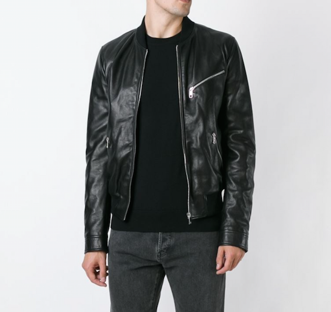 DG stylised leather jacket