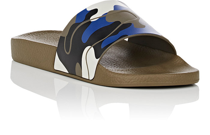 Valentino's Men's Camo Slide