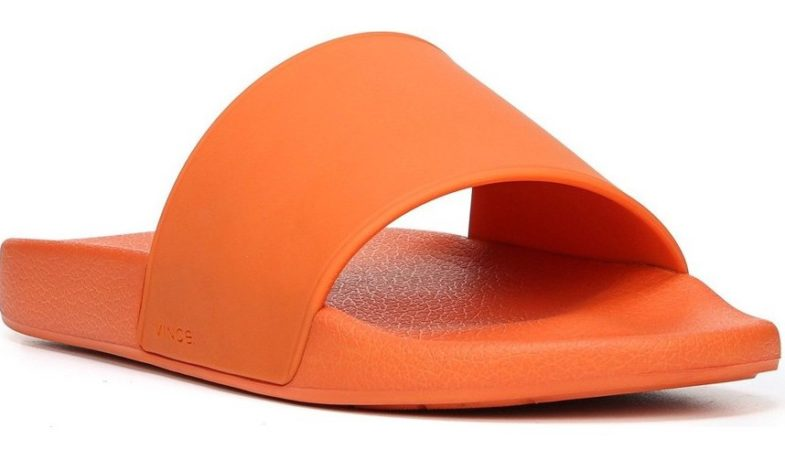 Vince Men's Orange Westcoast Slide
