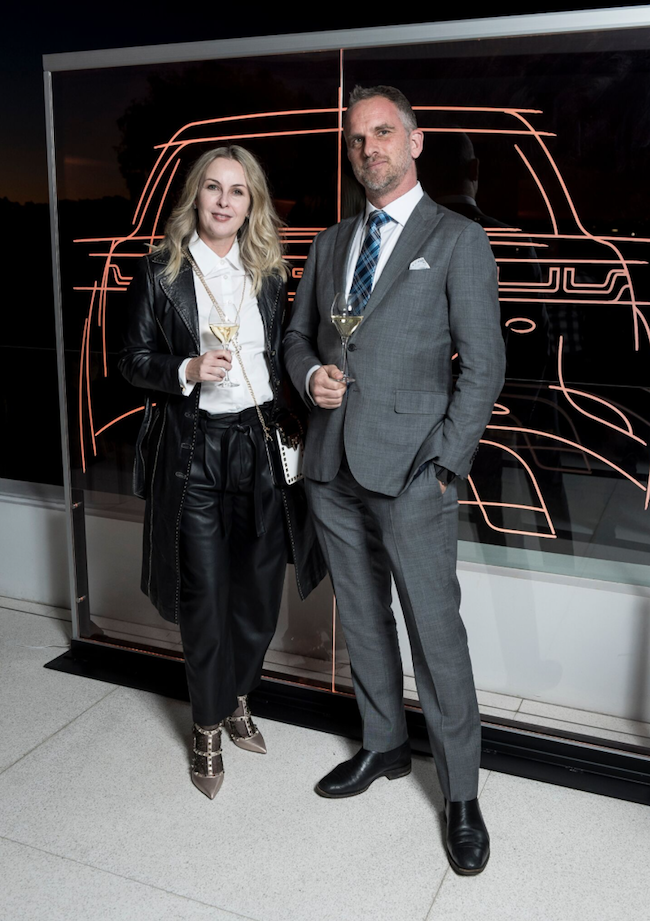MenStylePower's Founder, Louise Edmonds and (right) Glen Davis writer for 'Steel and Style' on the MSP website.